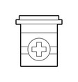 plastic container medicine cross pharmaceutical vector image vector image