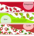pomegranate or garnet label vector image
