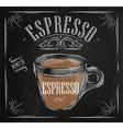 Poster espresso chalk vector image vector image