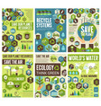 save environment earth air and nature vector image