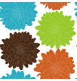 seamless background with flowers Hand-drawn vector image vector image