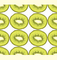 seamless pattern from kiwi slices vector image