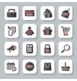 set flat modern shopping web icons vector image vector image