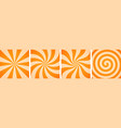 set sweet orange candy abstract vector image vector image