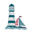 simple lighthouse print vector image