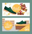 summer fashion green man shoe banners vector image vector image
