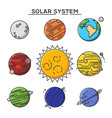 sun and solar system planets astronomy and cosmos vector image vector image