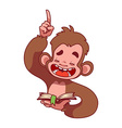 Symbol of 2016 - a monkey vector image vector image