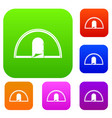 tent set color collection vector image vector image