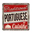 traditional portuguese cuisine vintage rusty vector image vector image