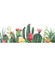 watercolor banner tropical flowers and vector image vector image