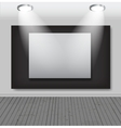 White frames in art gallery vector image vector image