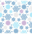 winter seamless christmas pattern with colorful vector image