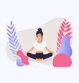woman in poses yoga healthy lifestyle vector image