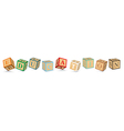 Word EDUCATION written with alphabet blocks vector image vector image