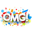 omg background with colorful confetti vector image