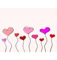 Hand-drawn love hearts vector image