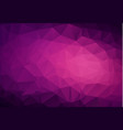 Abstract dark purple pink low poly crystal