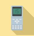 air conditioner remote control icon flat style