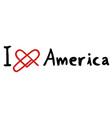 america love icon vector image vector image