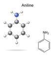 Aniline molecule vector image vector image