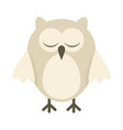 arctic owl in flat style vector image vector image