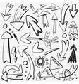 arrows doodles set vector image vector image