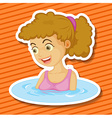 Bathing vector image vector image