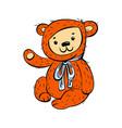 bear toy icon cartoon style vector image vector image