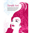 beauty template vector image vector image