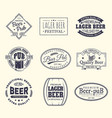 beer labels and stickers beermat and coaster vector image vector image