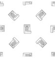 bill paper report pattern seamless vector image vector image