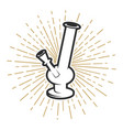 bong icon on white background vector image vector image