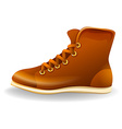 Brown shoe vector image vector image