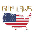bullet gun control laws with america flag vector image vector image