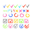 check marks color set cross vector image