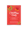 christmas party invitation editable poster vector image vector image