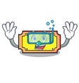 diving ticket character cartoon style vector image