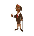dog character in formal clothing vector image vector image