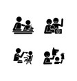 effective parenting style black glyph icons set vector image vector image