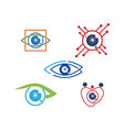 eye care health logo design template icon set vector image
