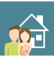 family home relationship vector image vector image