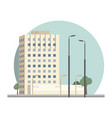 flat design retro and modern city house vector image