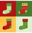 Flat winter Christmas Socks set vector image vector image