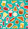 food ornament feed pattern meat background pizza vector image