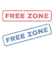 free zone textile stamps vector image vector image