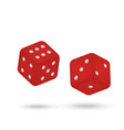 game dice isolated vector image
