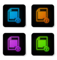 glowing neon unknown document icon isolated on vector image vector image