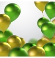 Green And Golden Balloons vector image