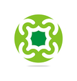 green arch element design abstract icon vector image vector image
